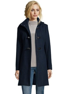 Kenneth Cole midnight wool blend snap toggle front coat
