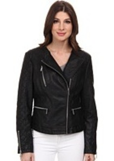 Kenneth Cole New York Asymmetrical Faux Leather Jacket