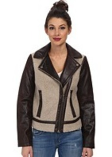 Kenneth Cole New York Asymmetrical Faux Sherpa Jacket