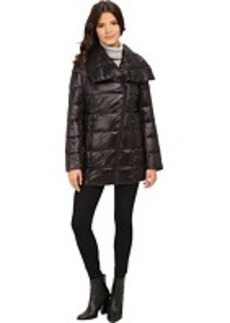Kenneth Cole New York Asymmetrical Packable Faux Down Coat
