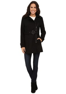Kenneth Cole New York Asymmetrical Zip Front Wool Coat