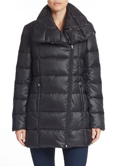 KENNETH COLE NEW YORK Asymmetrical Zip Puffer Coat