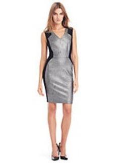 KENNETH COLE NEW YORK Aurelie Metallic Shift Dress