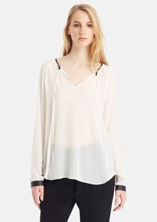 Kenneth Cole New York 'Baylee' Colorblock Split Neck Blouse