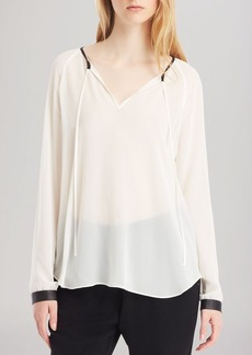 Kenneth Cole New York Baylee Tie Neck Blouse