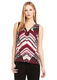 KENNETH COLE NEW YORK Becka Patterned Blouse