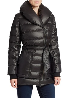 KENNETH COLE NEW YORK Belted Puffer Coat