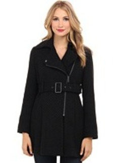 Kenneth Cole New York Braided Wool Asymmetrical Coat