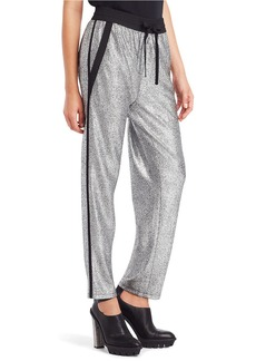 KENNETH COLE NEW YORK Brody Metallic Drawstring Pants