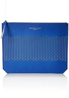 Kenneth Cole New York Caton Ave Flat Clutch, Cobalt Blue/Silver, One Size