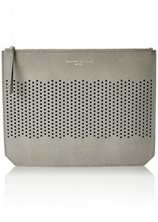 Kenneth Cole New York Caton Ave Flat Clutch, Light Grey, One Size