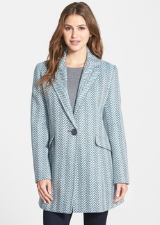 Kenneth Cole New York Chevron Print One-Button Coat