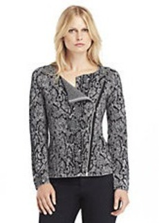 KENNETH COLE NEW YORK Cindy Metallic Asymmetrical-Zip Sweater