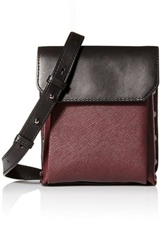 Kenneth Cole New York Cooper Cross Body Bag, Brick/Black, One Size