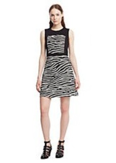 KENNETH COLE NEW YORK Dafny Mesh Stripe A Line Dress