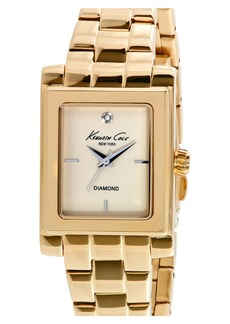 Kenneth Cole New York Diamond Marker Rectangular Bracelet Watch, 25mm
