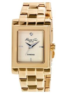 Kenneth Cole New York Diamond Marker Rectangular Bracelet Watch, 25mm
