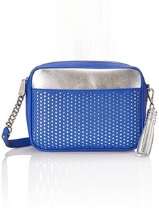 Kenneth Cole New York Dover Street Cross Body Bag, Cobalt Blue/Silver, One Size