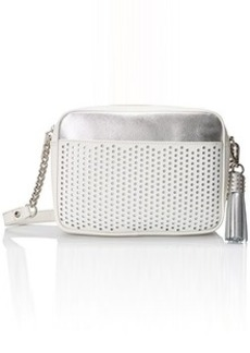 Kenneth Cole New York Dover Street Cross Body Bag, White/Silver, One Size
