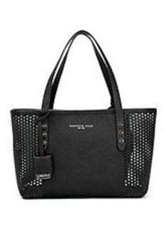KENNETH COLE NEW YORK Dover Street Leather Perforated Tote