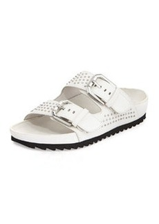 Kenneth Cole New York Erin Studded Buckled Sandal, White