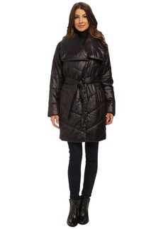 Kenneth Cole New York Faux Down Coat with Evelope Collar
