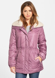 Kenneth Cole New York Faux Shearling Trim Puffer Coat