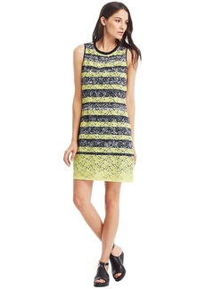 KENNETH COLE NEW YORK Fleur Lace Mix Pattern Shift Dress