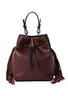 KENNETH COLE NEW YORK Fringe Leather Bucket Bag