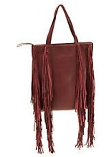 KENNETH COLE NEW YORK Fringe Leather Shoulder Bag