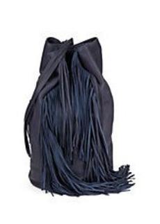 KENNETH COLE NEW YORK Fringed Leather Shoulder Bag