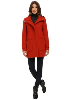 Kenneth Cole New York Funnel Neck Zip Front Wool Coat