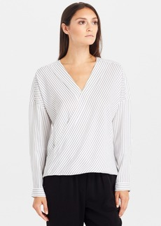 Kenneth Cole New York 'Gail' Faux Wrap Blouse