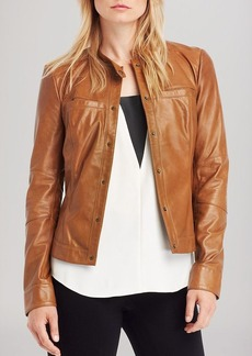 Kenneth Cole New York Gerri Leather Jacket