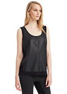 KENNETH COLE NEW YORK Harriet Chiffon Inset Tank
