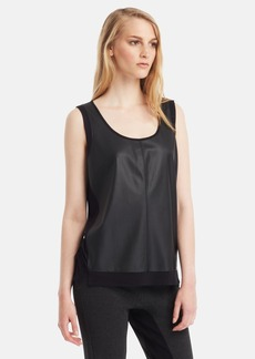 Kenneth Cole New York 'Harriet' Chiffon Inset Tank (Regular & Petite)