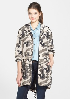 Kenneth Cole New York Hooded Camo Print Anorak