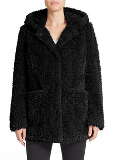 KENNETH COLE NEW YORK Hooded Faux-Fur Coat