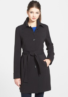 Kenneth Cole New York Inset Waist Single Breasted Coat