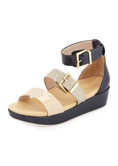 Kenneth Cole New York Joyce Patent Buckled Wedge Sandal