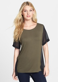 Kenneth Cole New York 'Kacey' Mixed Media Top