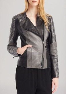 Kenneth Cole New York Kalen Color Block Leather Jacket