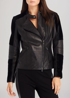 Kenneth Cole New York Kalen Leather Moto Jacket