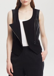 Kenneth Cole New York Luna Faux Leather Vest