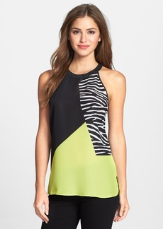 Kenneth Cole New York 'Maude' Colorblock Print Blouse