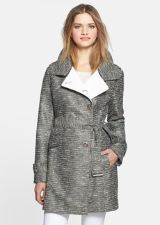 Kenneth Cole New York Metallic Tweed Trench Coat