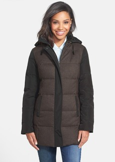 Kenneth Cole New York Mixed Media Quilted Coat