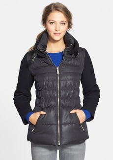 Kenneth Cole New York Mixed Media Quilted Jacket