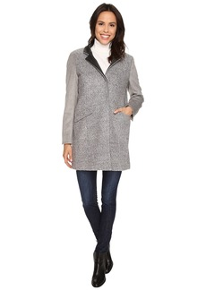 Kenneth Cole New York Mixed Wool Boucle & Melton Coat