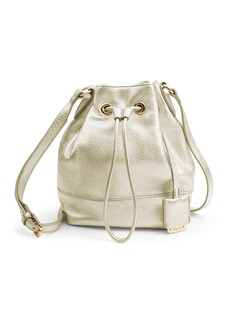 KENNETH COLE NEW YORK Nevins Metallic Leather Small Bucket Bag
